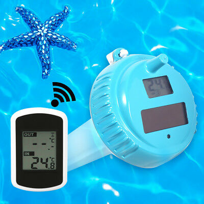 Outdoor Swimming Pool Solar Power Wireless Thermometer Temperature Monitor