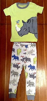 Still New! Unworn Rhinoceros Baby Toddlers Carter's Pyjamas Set Size 0 or 12M