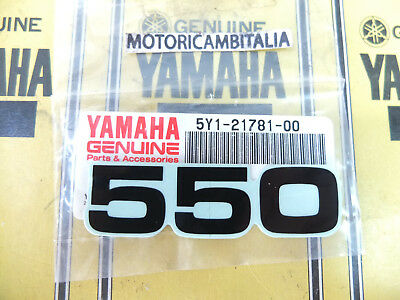 YAMAHA MOTO XT 550 adesivo fianchetto carena sticker side panel 5Y12178100 xt550