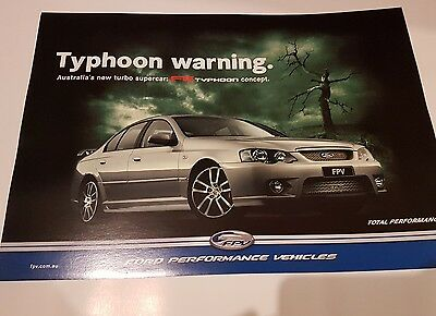 Ford Performance Vehicles FPV F6 Typhoon Concept Factory Original Poster