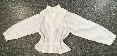Vintage CARA OF WALES  blouse pintuck,beaded,embroidered size 14
