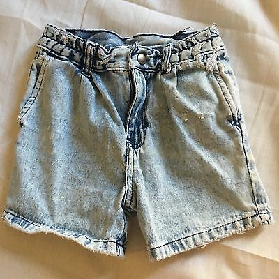 Children's Vintage Denim Shorts Boys Girls Size 4 Grunge Punk 80's 90's Cool