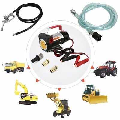 12V Oil Diesel Fluid Transfer Pump Electric Extractor Auto Speed 40L/M Portable