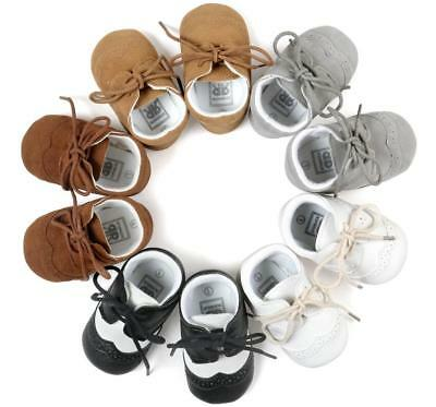 Newborn Baby Boy Pram Shoes Infant First Shoes Toddler Pre Walker Trainers 0-18M
