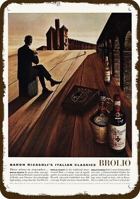 1964 BARON RICASOLI BROLIO WINE Vintage-Look REPLICA METAL SIGN NOT ACTUAL WINE!