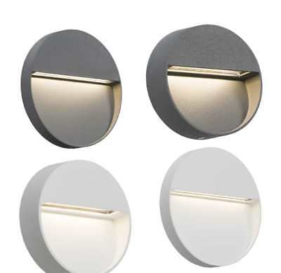 Knightsbridge 230V IP44 2W or 4W LED Round Wall/Guide Light White or Grey