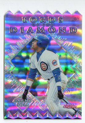 1999 Topps Chrome Lords of the Diamond Refractor #LD3 Sammy Sosa Chicago Cubs