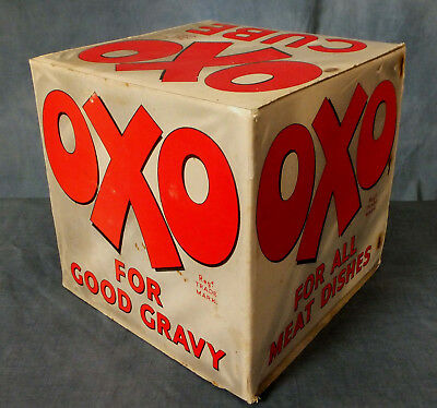 GREAT VERY RARE VINTAGE OXO POINT of SALE ADVERTISING CUBE