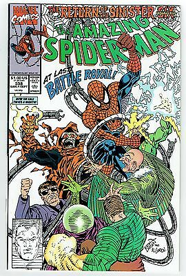 Amazing Spider-Man #338 Marvel Comics 1990 Vf+ Return Of Sinister Six Electro
