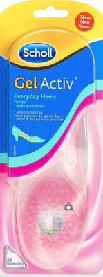 Scholl Gel Active Everyday Heels Pumps Womens Cushioning Insoles size 3 - 7.5