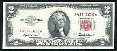 1953-A $2 Two Dollars Red Seal Legal Tender United States Note Gem Unc