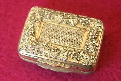 George Iii Gilt Washed Solid Silver Vinaigrette By William Edwards 1814