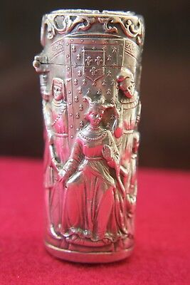 Superb French Solid Silver Cased Perfume Bottle Circa 1890 Top Quality
