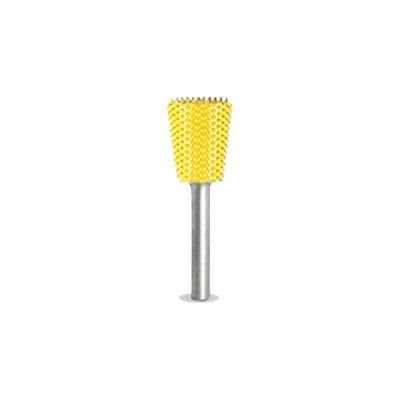 "SABURR TOOTH 3/8"" Dove Tail Burr Bit Fine (Yellow) - 1/8"" Shank - 18DT38-40"