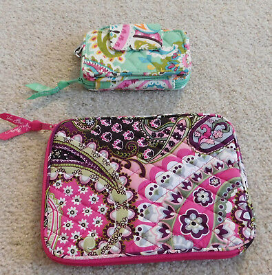 VERA BRADLEY LOT- TABLET HOLDER and CHAIN WALLET