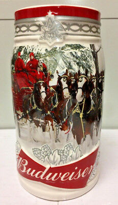 Budweiser 2017 Holiday Retreat Annual Holiday Christmas Stein New In Stock