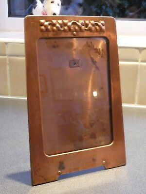Jugendstil Secessionist Arts Crafts Copper Handy Photograph Frame, Original Item