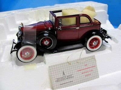 Bonnie And Clyde 1932 Ford V-8 Franklin Mint Never Displayed