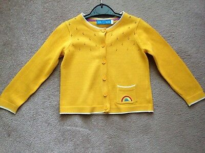Jools Oliver / Little Bird, Yellow, Rainbow, Retro Cardigan. Age 18-24 Mths. Vgc