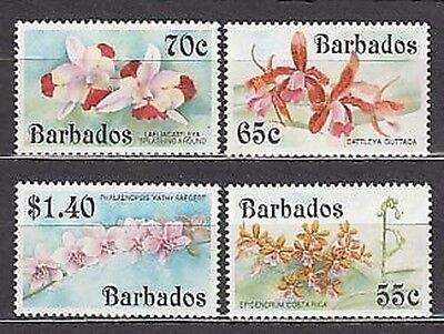 Barbados - Mail 1992 Yvert 840/3 Mnh Flowers orchids