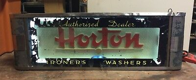 1930's Art Deco Advertising Neon Sign - Horton Washers & Irons - Works