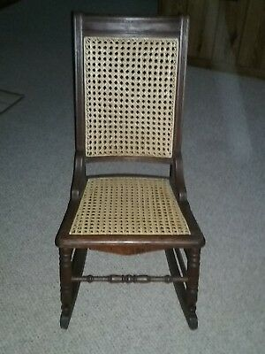 Vintage Nursing Rocker with new caning