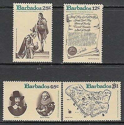 Barbados - Mail 1977 Yvert 438/41 Mnh Count of Carlist