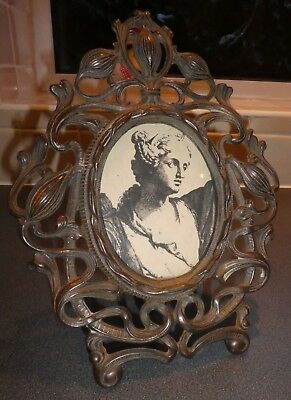 Art Nouveau Metal Ornate Photograph Frame. Original Period Item.