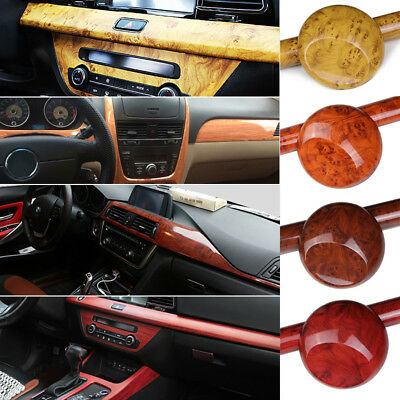 Glossy Car Interior Wood Grain Textured Vinyl Wrap Sticker Decal Sheet Film Diy Picclick