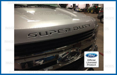2019 Ford F250 Super Duty hood grille Letters Decals Stickers AMERICAN FLAG WORN
