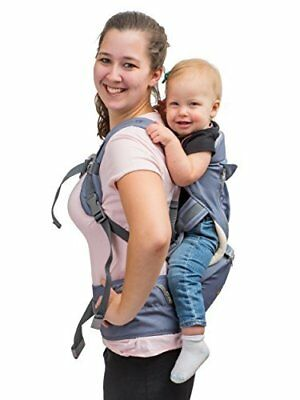 Brighter Elements 8-in-1 Baby Toddler Carrier w/ Hip Seat, Safe Ergonomic Style