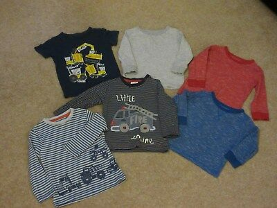 Baby boys Next long sleeve tops age 12 - 18 months red/blue and grey colours