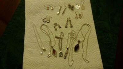 Sterling Silver Pendants, Earrings, Job Lot