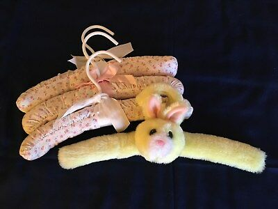Four Padded Clothes Hangers for a Baby Girl