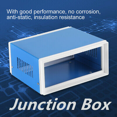 270 x 140 x 210mm Metal Blue Project Junction Boxes Enclosure Case with Handle