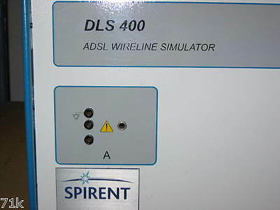 Spirent DLS 400 DL4-400J3 ADSL Wireline Simulator 400J3 365Day Warranty FreeShip