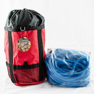 "Tree Climbing Rope,Samson True Blue, Rated 7300Lb,12 Strand,Firm 1/2""x150' W/Bag"