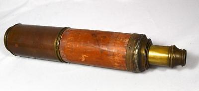 19TH C DOLLAND LONDON MAHOGANY & BRASS TELESCOPE: Lot 239