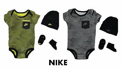 NIKE Baby Boy 3-piece Set Gift Pack 0-6 Months - New Limited