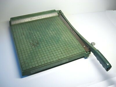 "VTG Permier 12""x12"" Photo Trimmer-Paper Cutter Green Plastic"