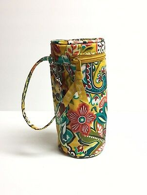 Vera Bradley Insulated Baby Bottle Caddy In Mustard Yellow Floral- New No Tags