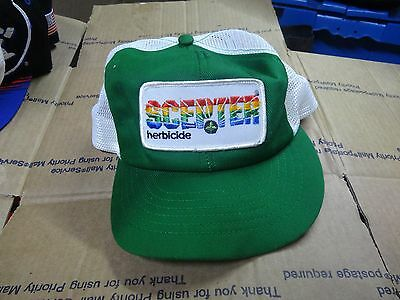 J1c Vtg 1980s SCEPTER HERBICIDE Farm Agriculture ADVERTISING Snapback Hat Cap