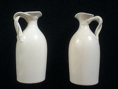 Leeds Pottery Creamware 1x Oil and 1x Vinegar Jugs/Bottles? with twisted handle