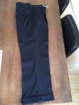 Romeo Gigli-G Gigli Man's Pants - Dark Blue-Made In Italy-100% Wool - Archivial