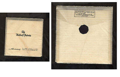 Very Vintage/antique Sealed Package -Napkin/towel-Waldorf Astoria Hotel Nyc