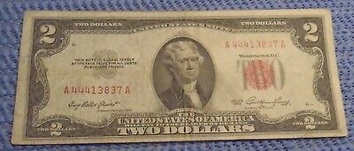 1953 Two Dollar Red Seal United States Note