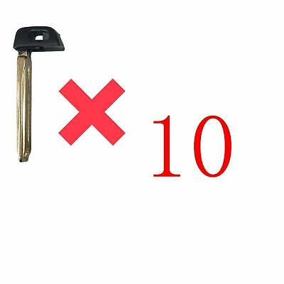 10Toyota Smart Emergency Key Prox Remote Blade Replacement Blank Insert HYQ14FBA