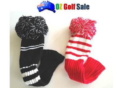 1PCS RETRO STYLE KNITTED POM POM GOLF DRIVER HEADCOVER HEAD COVER UP TO 460cc