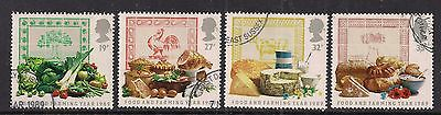GB 1989 QE2 Food and Farming Year Used set of 4 stamps ( A1371 )
