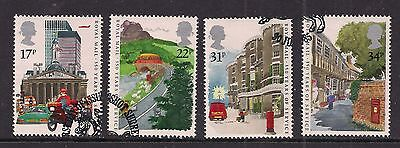 GB 1985 QE2 350 years of Royal Mail used set of 4 stamps ( A1337 )
